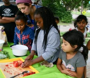 Young summer students learn food and nutrition science, bridging the opportunity gap